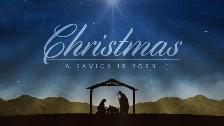 Merry Christmas 2018 Nativity Scene - Unto us a Child is Born - Isaiah 9 Verse 6-7