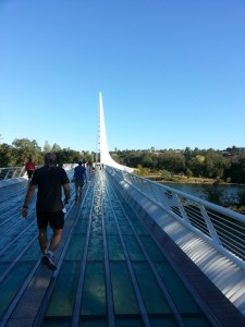 On the Sundial Bridge