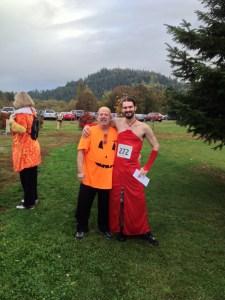 Runaway Pumpkin - red dress