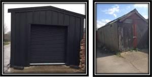 Steel Framed Garage Building