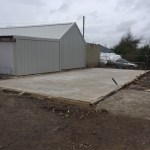 Foundations and Pads completed for Steel Building