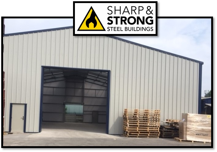 Steel Industrial Warehouse with Fire Rated Cladding Sheets