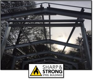 What is a steel portal framed building