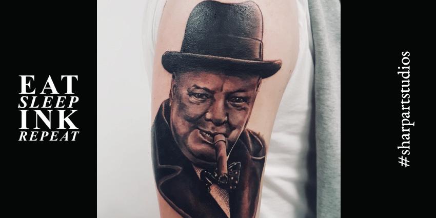 Cover photo for Sharp Art Studios blog featuring Winston Churchill