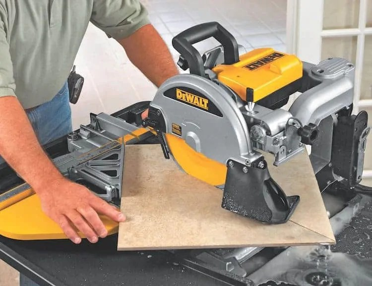 how to use a wet tile saw