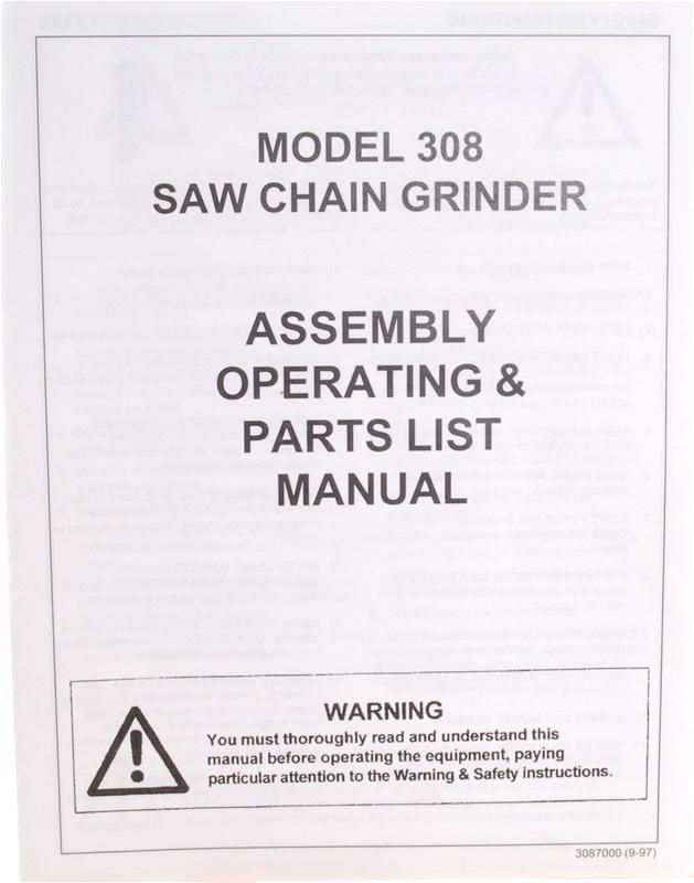 Manual for Model 308 Chain Grinder