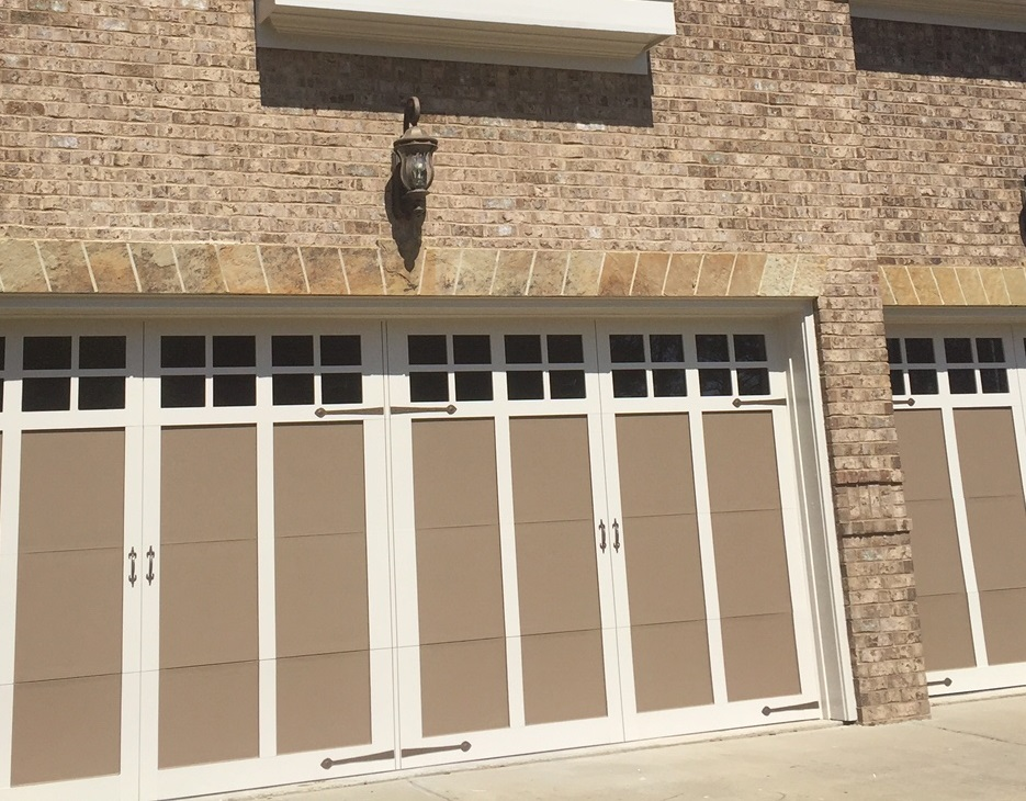 Garage Door Painting  Wood Replacement Upgrade  Before and After