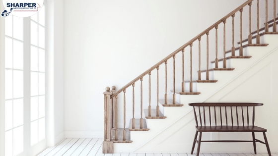 Should You Paint Or Stain Stairs And Railings In Your Home   Wood Stairs In House   Reclaimed Wood   Natural Wood   Residential   Minimalist   Basement