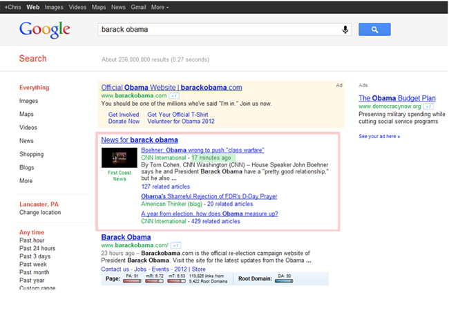 Changes to Google November 2011