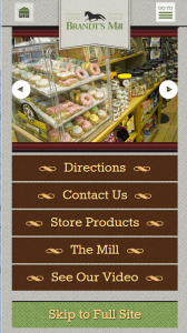 Brandts Mill Mobile Website