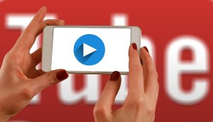 Waching a YouTube video on a mobile phone