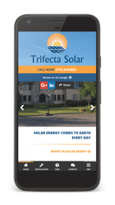 trifecta solar mobile website
