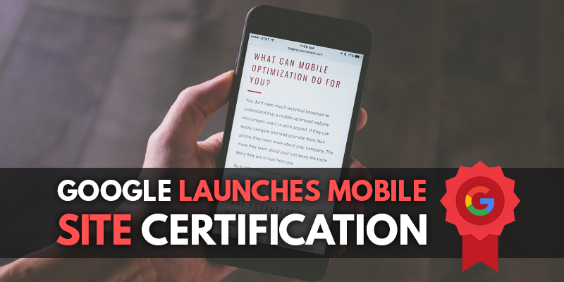 Google Launches Mobile Sites Certification Blog