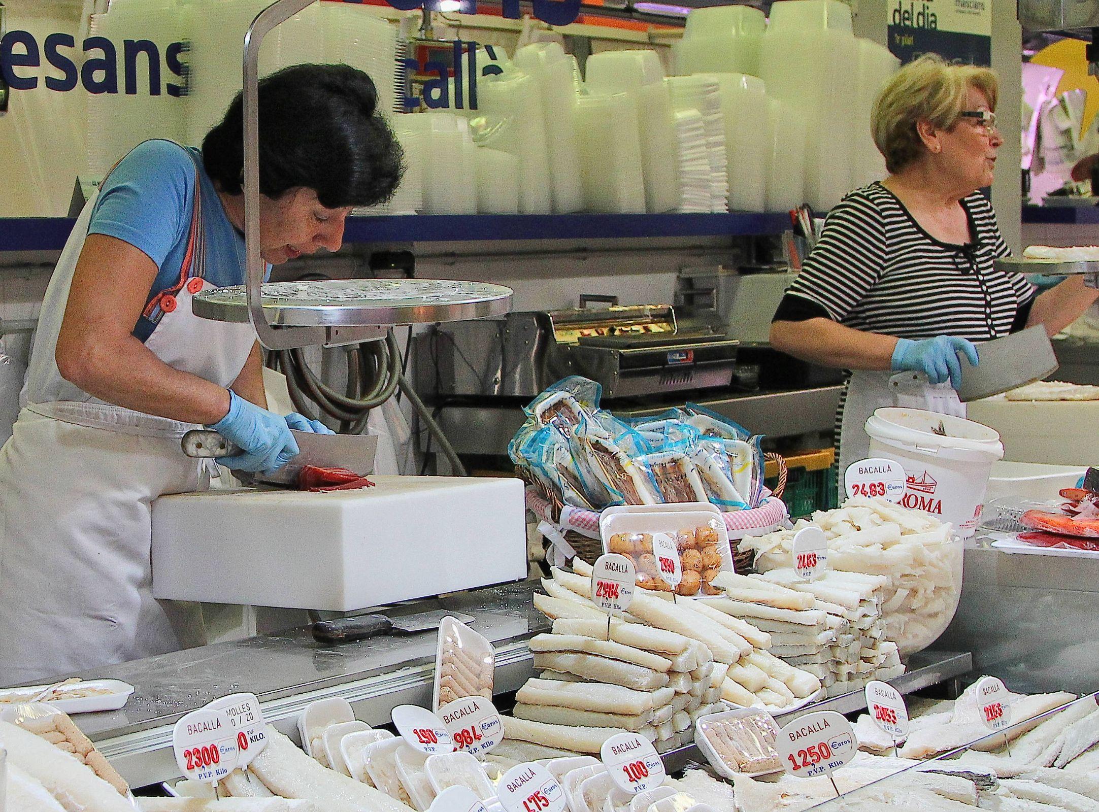 Cutting Fish, Mercat de Sant Antoni, Barcelona