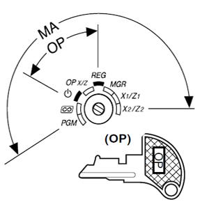 XE-A113 operator sleutel