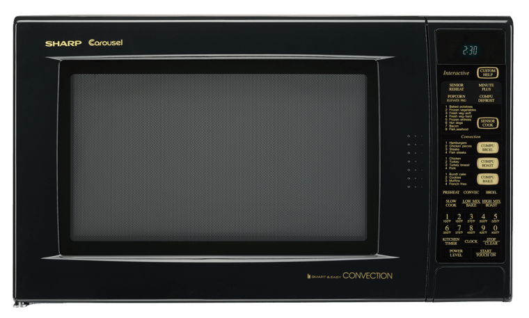 R930AK Black Convection Microwave Oven 15 Cu Ft Oven