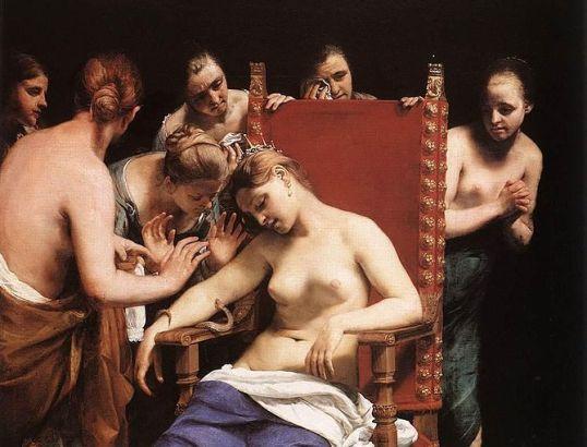 The Death of Cleopatra - Guido Cagnacci [Public domain], via Wikimedia Commons