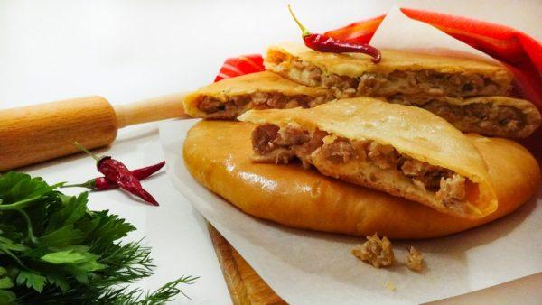 """Кубдари с мясом – Сервис """"ШАШЛЫК ONLINE """" предлагает вам заказать Кубдари с мясом с доставкой по Киеву, а также другие блюда по самым доступным ценам."""