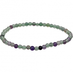 4mm Flourite Stretch Bracelet | Shasta Rainbow Angels