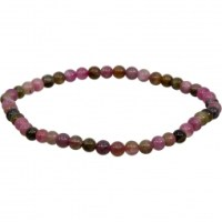 4mm Rainbow Tourmaline Stretch Bracelet | Shasta Rainbow Angels