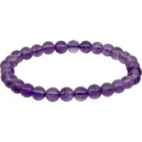 6-8mm Amethyst Stretch Bracelet | Shasta Rainbow Angels