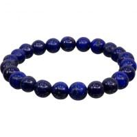 8mm Lapis Lazuli Stretch Bracelet for Throat Chakra | Shasta Rainbow Angels