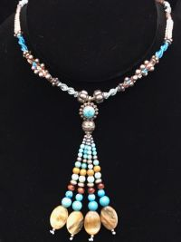Isha Turquoise & Sterling Silver Necklace   Shasta Rainbow Angels