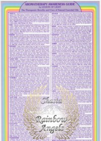Aromatherapy Awareness Guide (AG) - 8X13 Laminated Card | Shasta Rainbow Angels