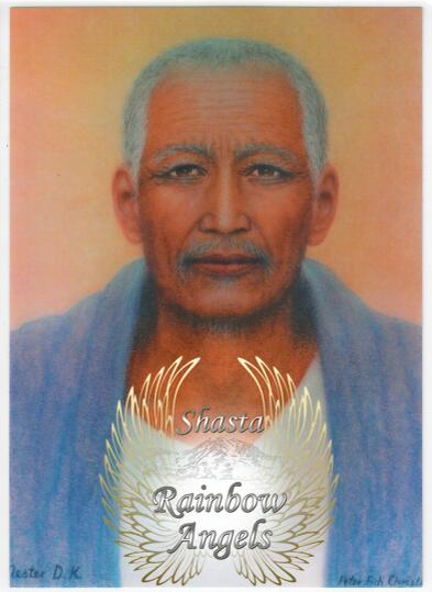 Djwal Khul (DK2) - 5X7 Laminated Altar Card   Shasta Rainbow Angels