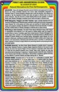First Aid Awarness Guide (FA) Laminated 4x6 Art Print   Shasta Rainbow Angels