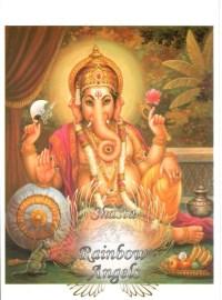 Ganesha (GN) - 5X7 Laminated Altar Card | Shasta Rainbow Angels
