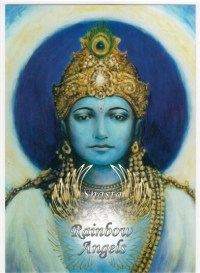 Krishna (KS2) - 5X7 Laminated Altar Card | Shasta Rainbow Angels