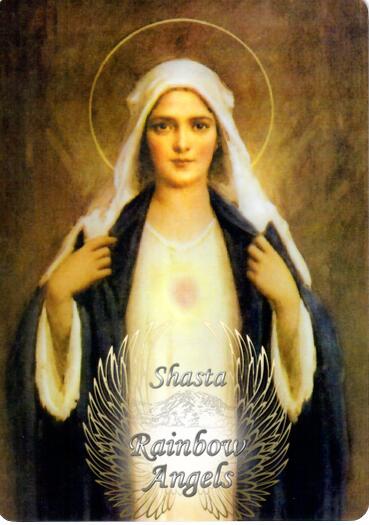 Mother Mary (MM6) Laminated 5x7 Art Print   Shasta Rainbow Angels
