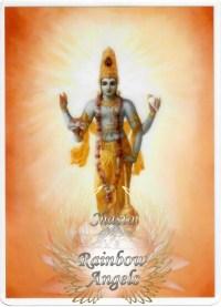 Vishnu (VN) - 5X7 Laminated Altar Card | Shasta Rainbow Angels