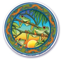 Jungle Frog Translucent Window Sticker | Shasta Rainbow Angels