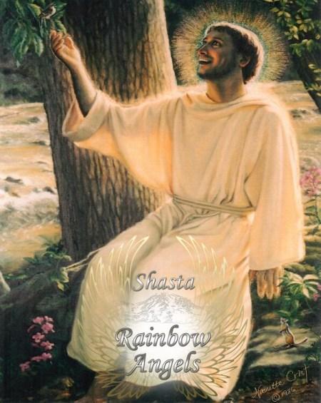 Saint Francis 8x10 art print in protective sleeve | Shasta Rainbow Angels
