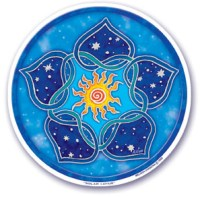 Solar Lotus Translucent Window Sticker | Shasta Rainbow Angels