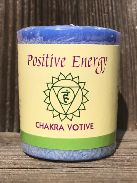 Throat Chakra Positive Energy Visuddha 100% Pure Essential Oil Votive Candle | Shasta Rainbow Angels