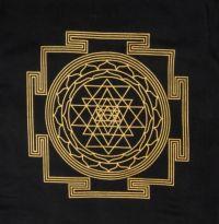Sri Yantra Crystal Grid Cloth | Shasta Rainbow Angels