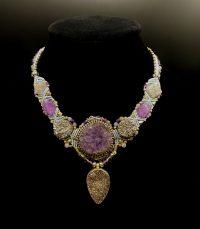 Blue Amethyst Cluster with Druzy Isha Elafi Sterling Silver Necklace | Shasta Rainbow Angels