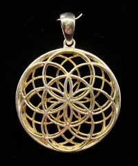 Double Seed of Life Pendant Sterling Silver 14k Gold Plated | Shasta Rainbow Angels