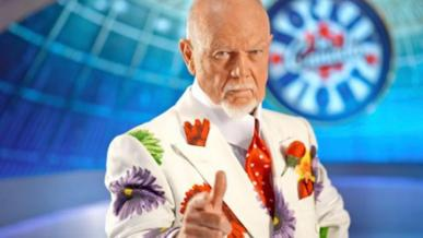 Don Cherry in a flamboyant flower suit