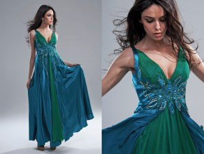 beautiful emerald green color dress