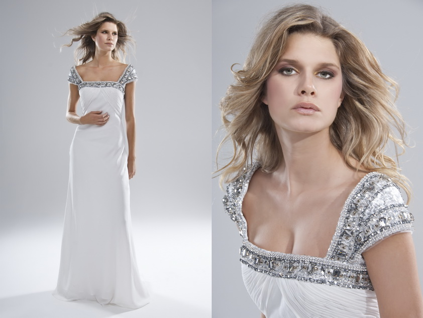 elegant white dress by La catalog photographer