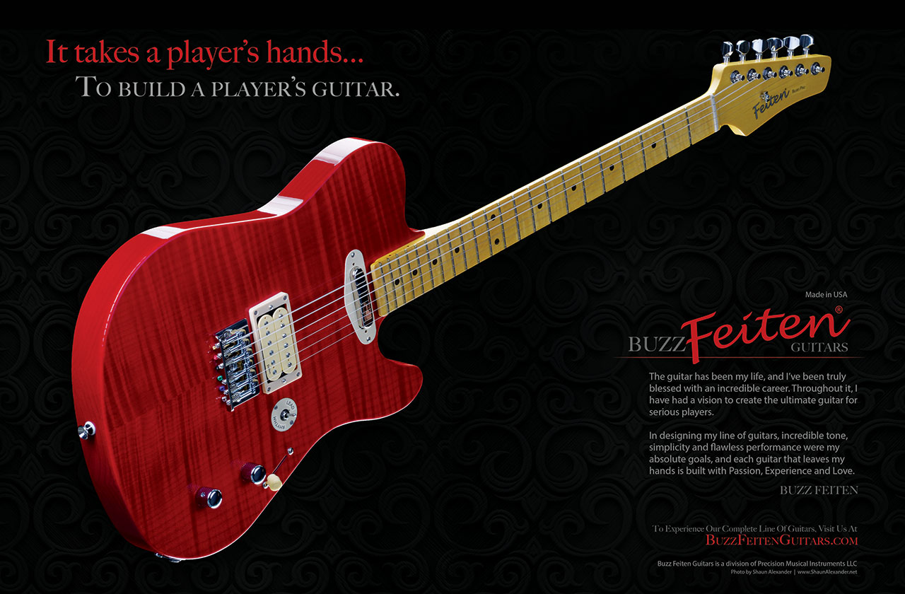 BuzzFeiten Guitar Magazine ads