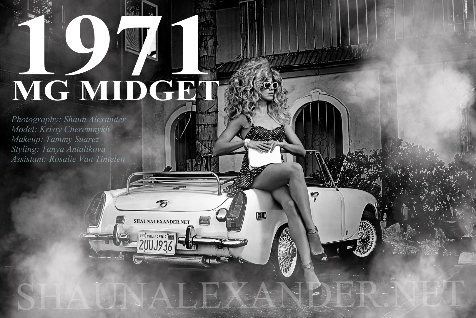 1971 MG MIDGET PHOTOS BY SHAUN ALEXANDER TOP FASHION PHOTOGRAPHER