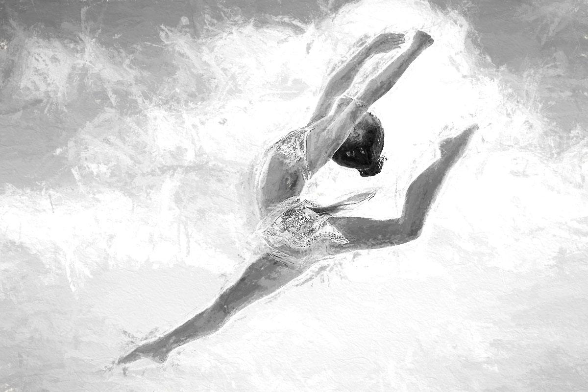 DANCERS PAINTING ART BY SHAUN ALEXANDER