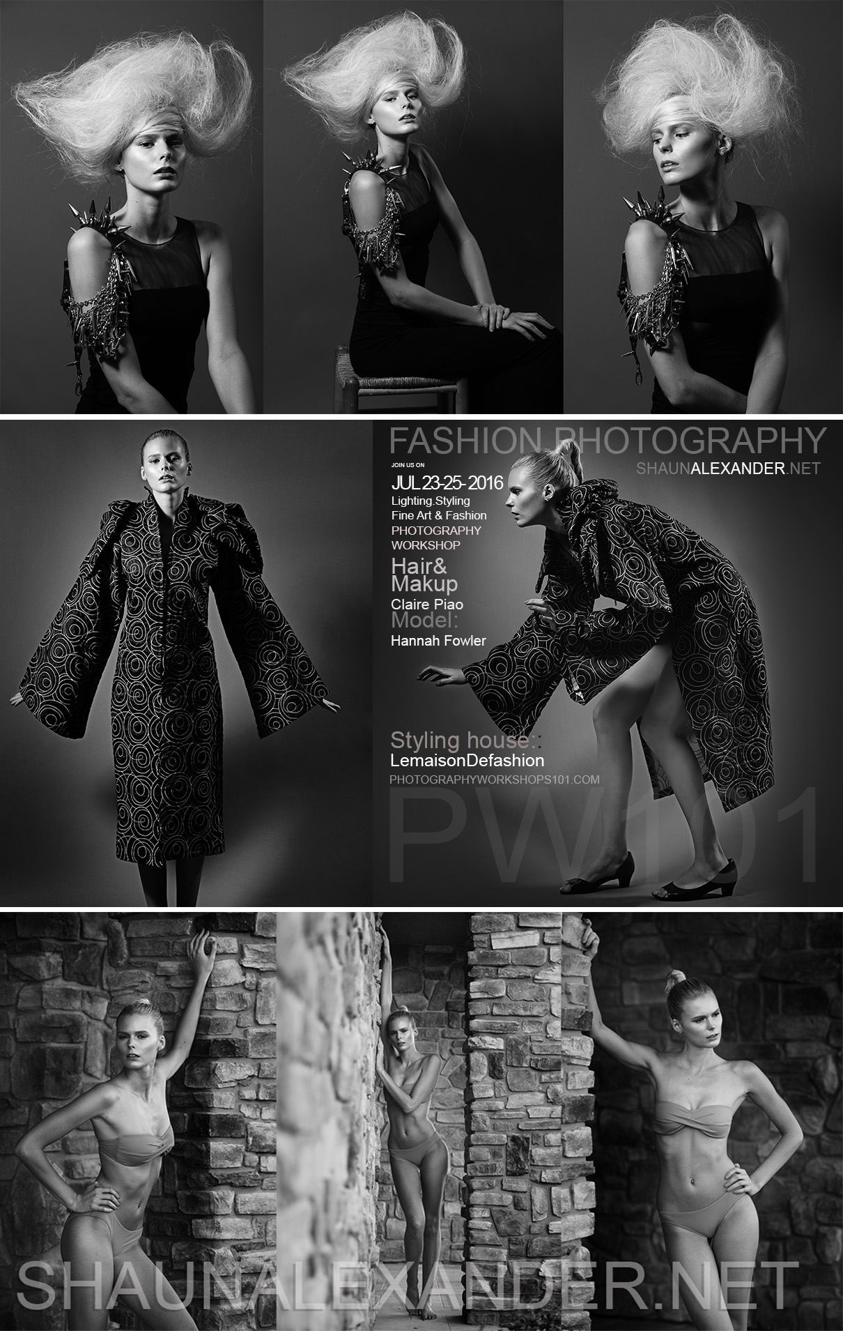 Group and Private Fashion Photography Workshops in Los Angeles by Top Fashion Photographer Shaun Alexander specialized in fashion, advertising, beauty, catalog, product and digital photography. Introduction to photography lighting, styling, model posing, directing, bossiness of photography and much more.
