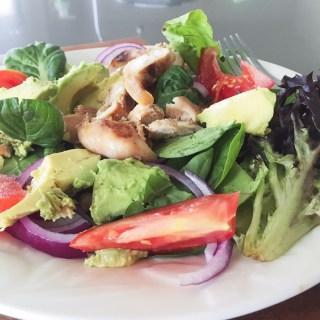 Teriyaki Chicken Salad (for those who'd prefer a potato scallop)
