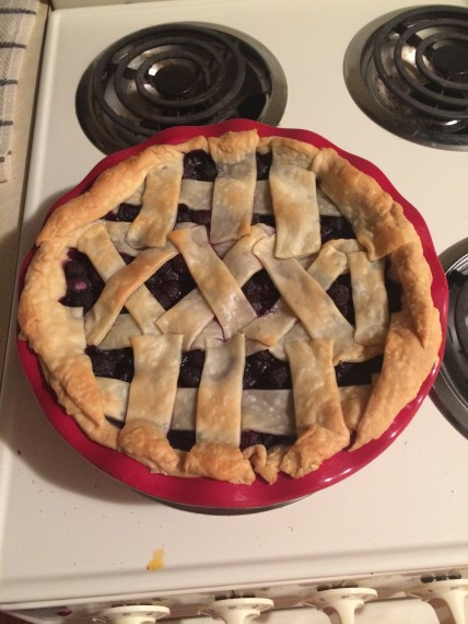 Made a XXXI pie for Jake's 31st birthday